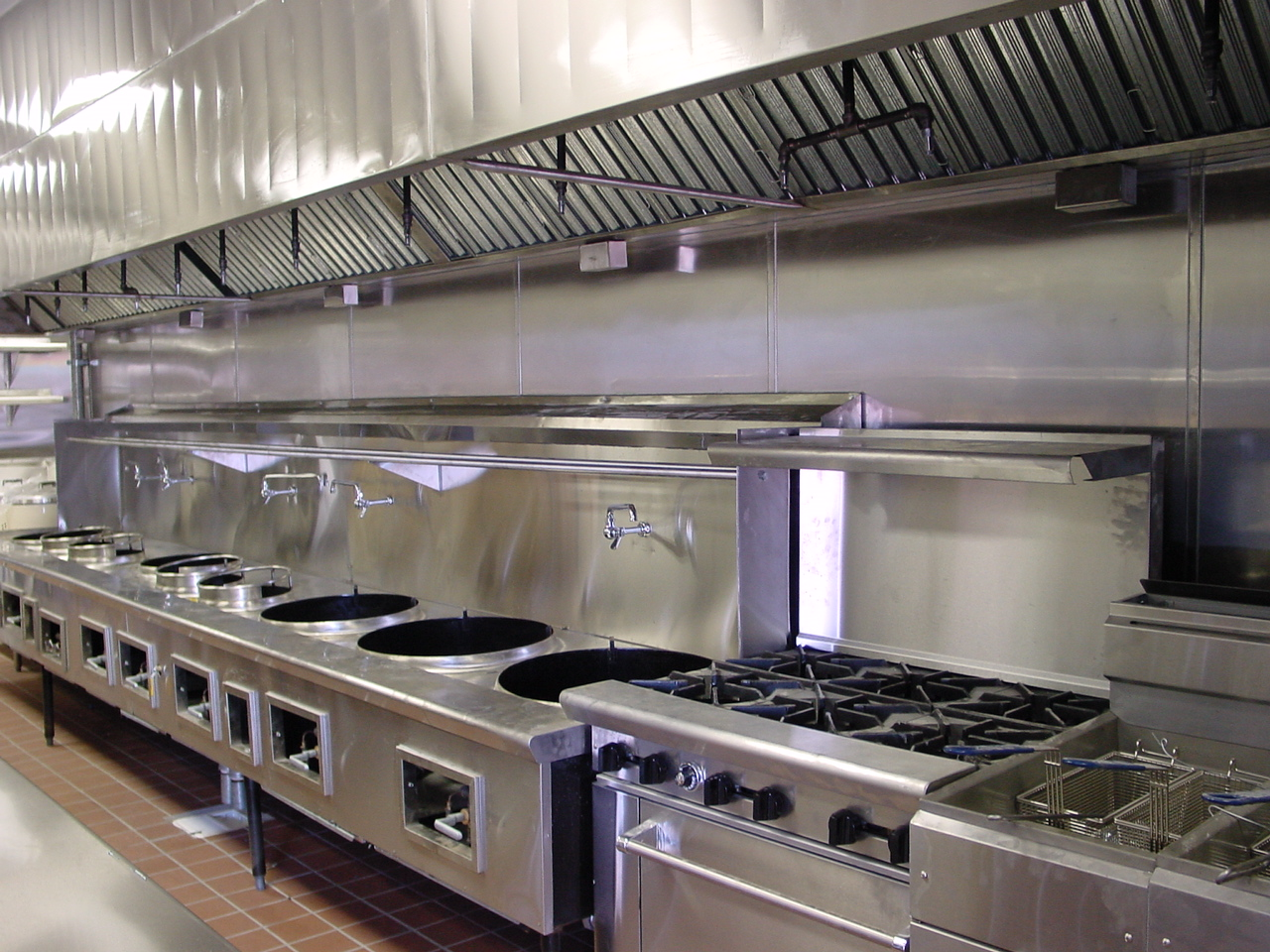 High Quality Cold Table, Exhaust Hood System